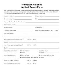 24 Incident Report Template Free Sample Example Format Free