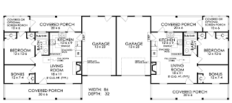 Duplex Plan chp  at COOLhouseplans comClick Here to Mirror Reverse Image
