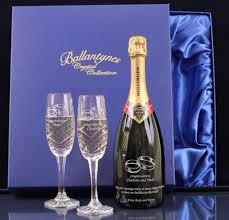 fully personalised boxed bottle of bollinger special cuvée chagne and two end flutes truely magnificent