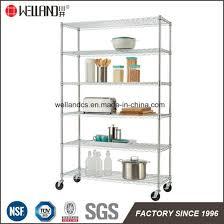 basic 5 shelf accessories heavy duty nsf chrome steel storage wire rack kitchen shelving