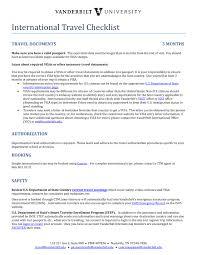 5 International Business Travel Checklist Pdf