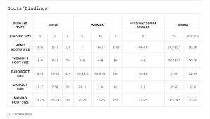 Burton Snowboard Boots Size Chart Burton Boots Size Chart What Size Binding Is Best For Me
