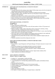 Experienced Software Engineer Resume Software Engineer Automotive Resume Samples Velvet Jobs 9