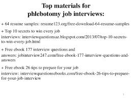 Phlebotomy Resume Sample Pdf Ebook