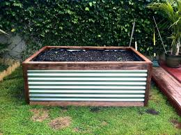 corrugated steel planter boxes galvanized raised garden beds pins plants box vegetable metal planters wood and raised beds bed