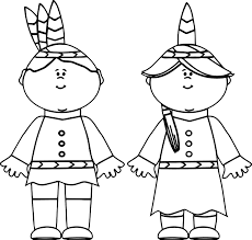 Indian Boy And Girl Coloring Pages Fun Coloring Pages Native
