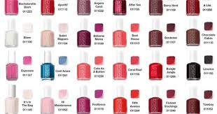 Nail Art Essie Color Chart Yes
