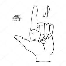 人差し指イラストの描画方向を示す ストックベクター