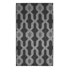 jean pierre kat dark gray 2 ft x 5 ft area rug