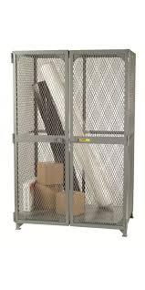 little giant sl2 a 3048 all welded adjule shelf expanded metal storage locker with 2 shelves