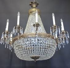 12 arm tent and bag chandelier ca 1920