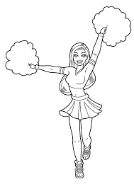 Free Printable Cheerleading Coloring Pages Printable Coloring Pages