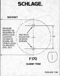 instruction manual deadbolt installation instruction schlage knob and lever dummy installation instructions