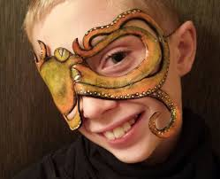 picture of diy leather octopus pirate eye patch mask