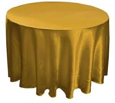 gold satin tablecloth round 108
