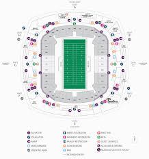 Atlanta Falcons Seating Chart Mercedes Benz Georgia Dome Seating Map Football Seating Charts Mercedes