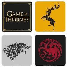 Single Coaster - Genuine Game Of Thrones Drinks Mat <b>Retro</b> ...