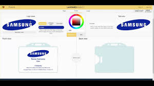 sample id cards plastic id cards designing a sample samsung id card youtube