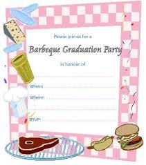Barbeque Invitation Barbeque Printable Graduation Invitations