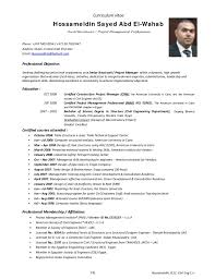 Ideas Collection Sample Resume For Structural Engineer In Free Download