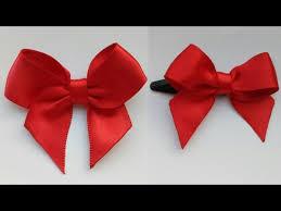 diy ribbon bow make easy ribbon hair bow how to make ribbon bow gift ribbon bow bow with clips