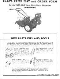 troy bilt garden way tillers owner s manuals and parts lists