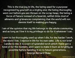 George Bernard Shaw Quotes Inspiration George Bernard Shaw Quote About Joy In Life Self Help Daily