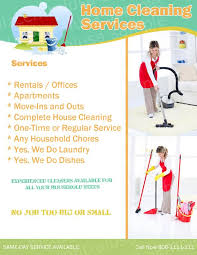 Housekeeping Flyers Templates Cleaning Services Flyers Samples Under Fontanacountryinn Com