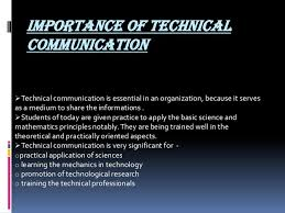 importance of technical communication importance of technical
