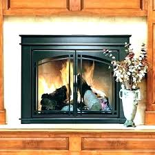replace gas fireplace insert with electric replacement inserts replacing brass doors glass door scenic replaci