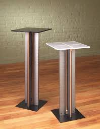 View in gallery Modern pedestal tables from Stoneline Designs