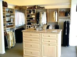 master closet island drawers
