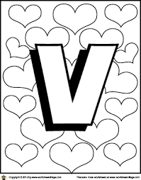 Small Picture Letter V Coloring Page
