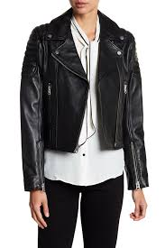 image of 7 for all mankind asymmetrical leather jacket