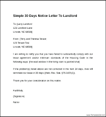 Day Notice To Move Out Template 30 Day Notice Template To