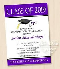 Black And Purple Invitations Details About 10 Class Of 2019 Black White Purple Red Any Color Graduation Invitations