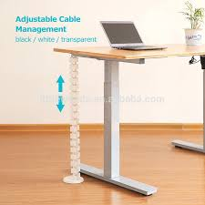 under desk wire management office standing desk retractable adjule wire cable management with heavy base under desk wire management
