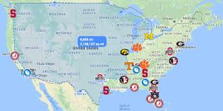 Where College Football Players Come From 9 Maps And Charts