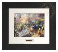 beauty and the beast falling in love modern home collection espresso frame