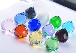 35pcs lot 40mm mixed color crystal faceted lighting prism ball drops crystal hanging ball glass chandelier pendants
