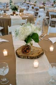 Hydrangea & babies breath floral centerpiece in mason jar. Flowers: A  Happily Ever After