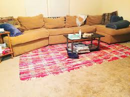 Where To Place A Rug In Your Living Room How To Make An Area Rug For Less Than 20 Bucks A Paper Arrow