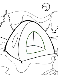 Small Picture Tent Coloring Page Handipoints