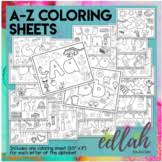 I hope these coloring sheets will help english teachers make their. Alphabet Coloring Sheets A Z Worksheets Teaching Resources Tpt