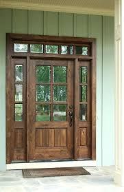 wood door with glass dark stained wooden door with sidelights wood door glass door knob