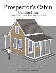 prospector cabin tiny house design plans with loft and porch prospectors cover two bedroom home simple hunting small weekend floor room cottage camp log