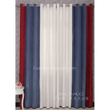 Charming Boys Bedroom Curtains In Red Blue And White Combined Colors For Eco Friendly