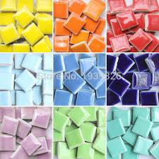 DIY colorful mosaic tiles craft 200 pcs garden aquarium decoration natural  glass stone and minerals square