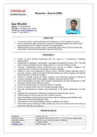 Impressive Oracle Dba Resume Sweet Ijaz Dba Updated Resume Cv
