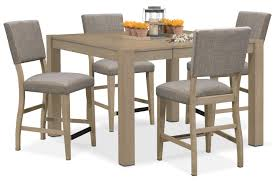 tribeca counter height table and 4 upholstered side chairs grey counter height chairs canada